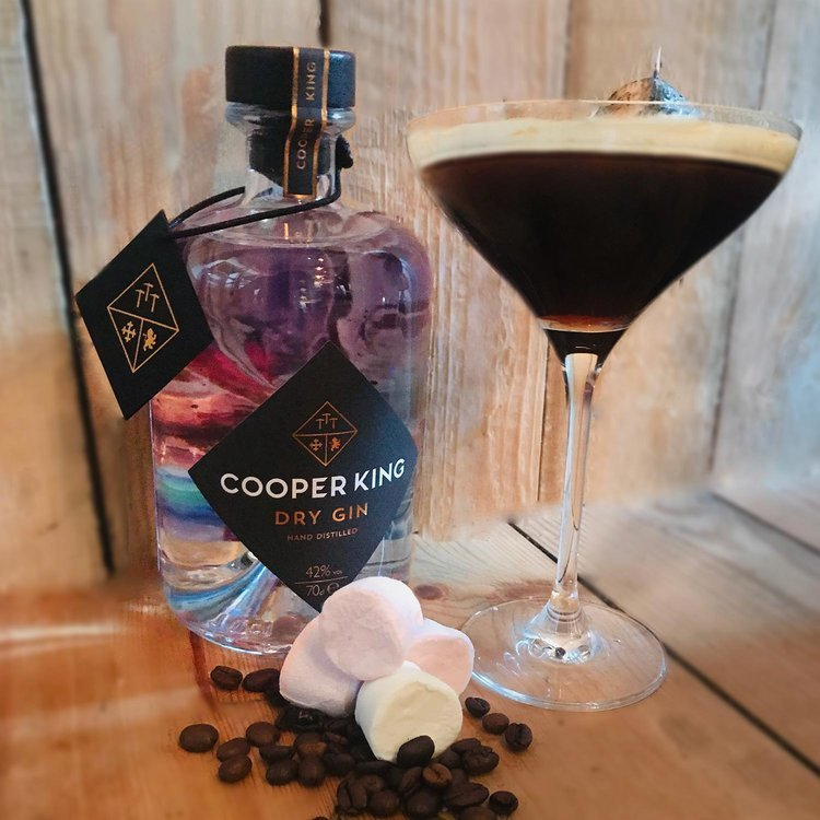 Full cooper king dry gin in an autumn alexander