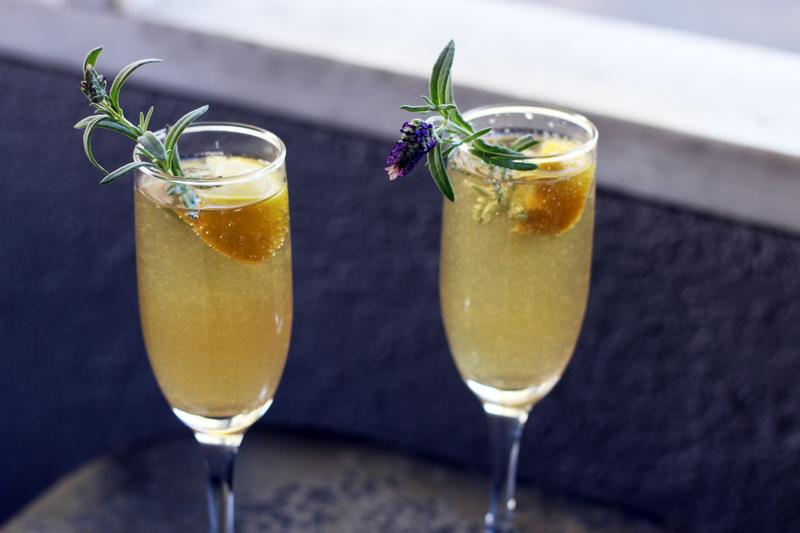 Full desert island drinks lavender mimosa