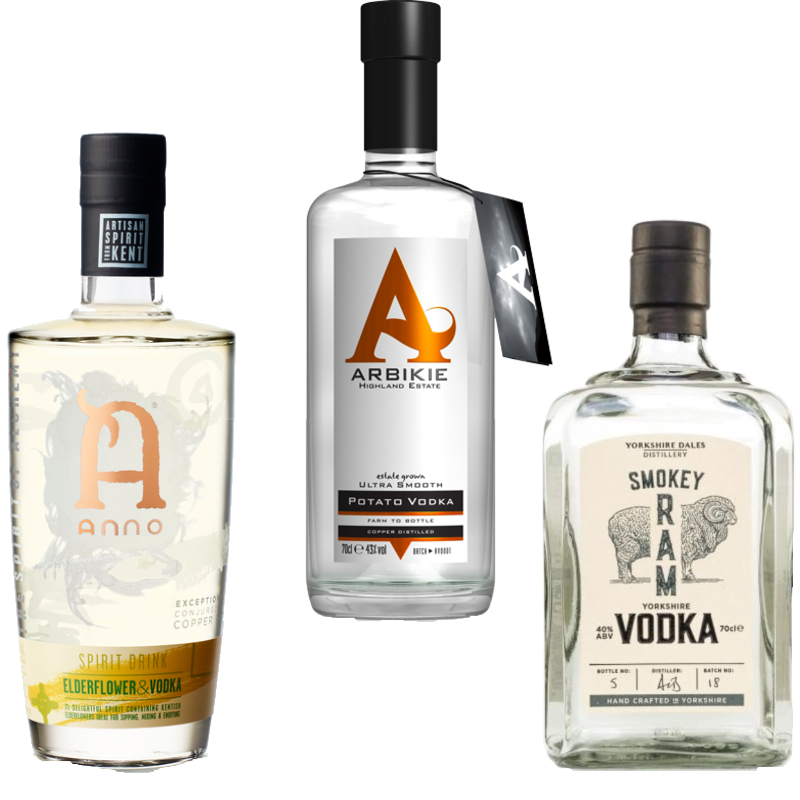 Full vodka line up