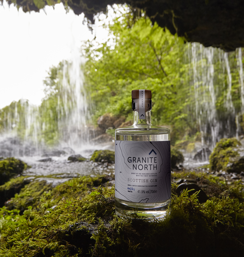 Full granite north bottle gin forest
