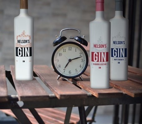 Full nelsons gin oclock craft spirits rhubarb custard original navy strength
