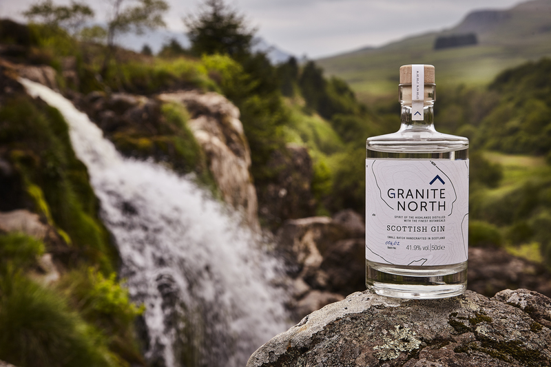 Full granite north bottle gin scottish