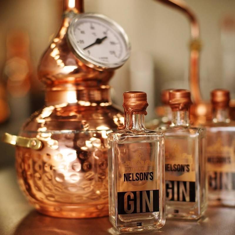 Full nelsons gin bottle still distiller craft spirits