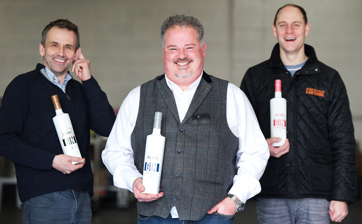 Nelsons team founders gin craftr craft spirits