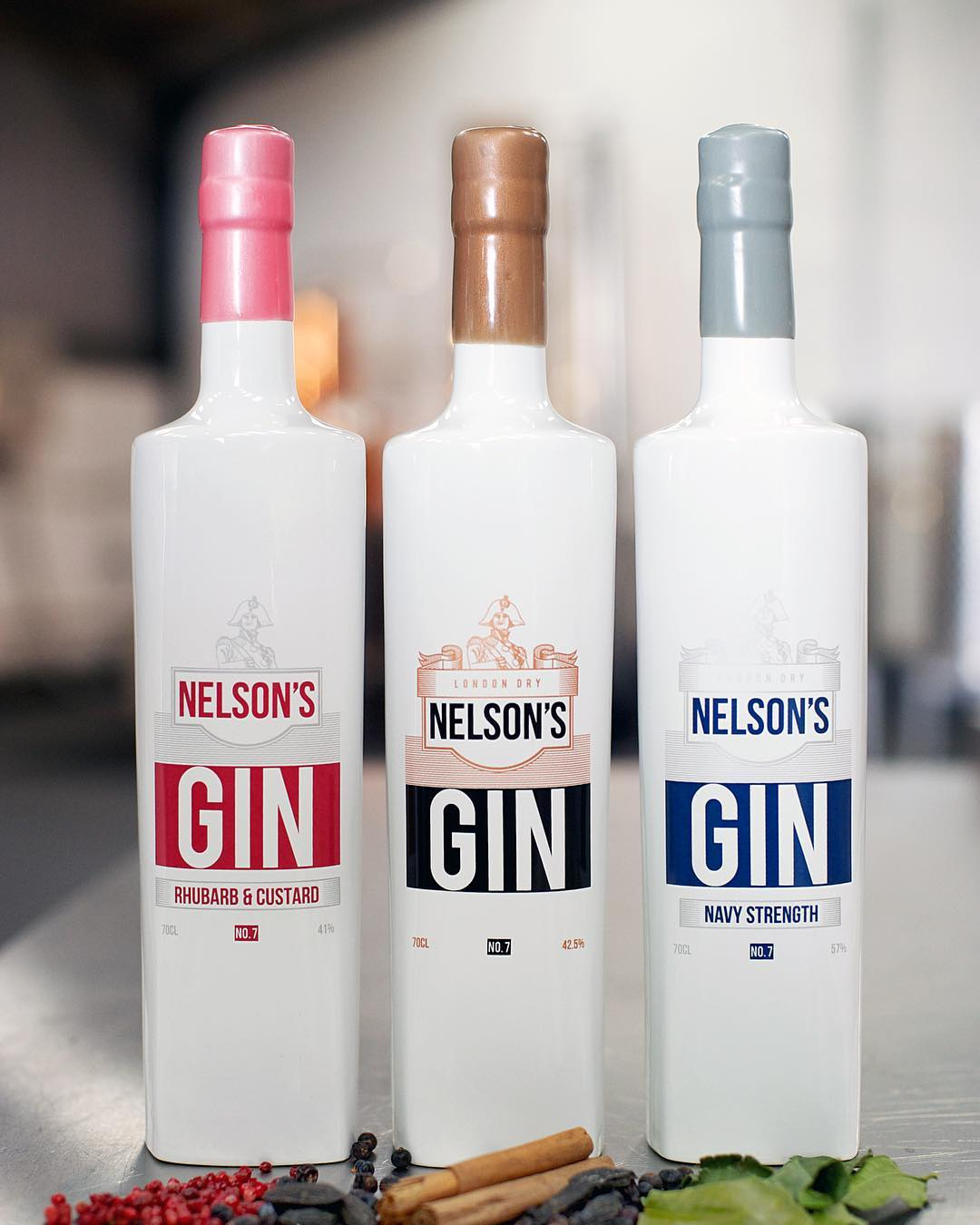Nelsons craftr craft spirits gin range original rhubarb custard navy strength