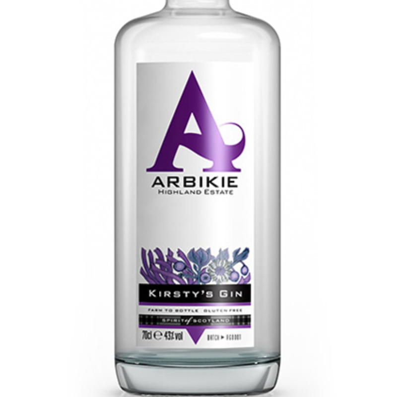 Full bottle arbikie gin white bk 2