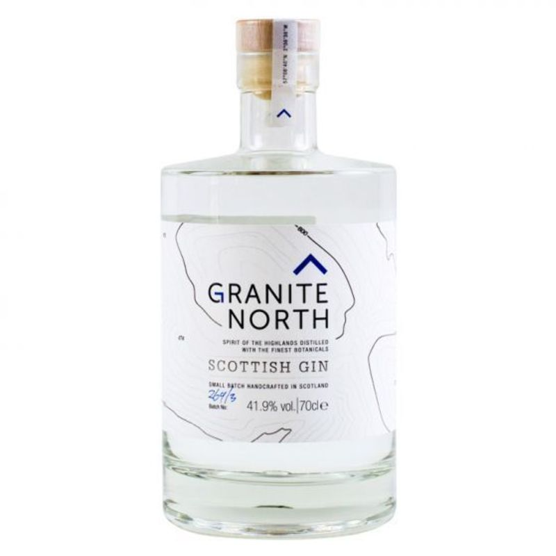 Full granite north gin bottle