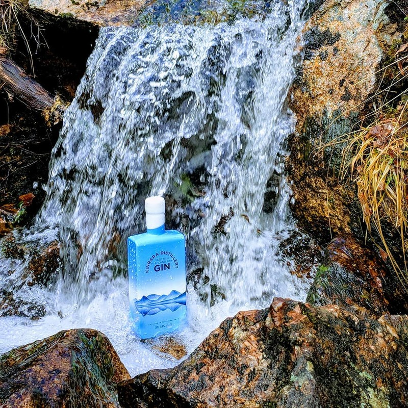 Full kinrara distillery gin waterfall bottle