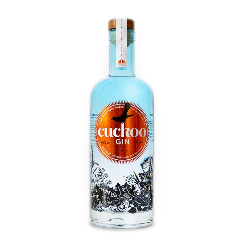 Full brindle cuckoo gin bottle