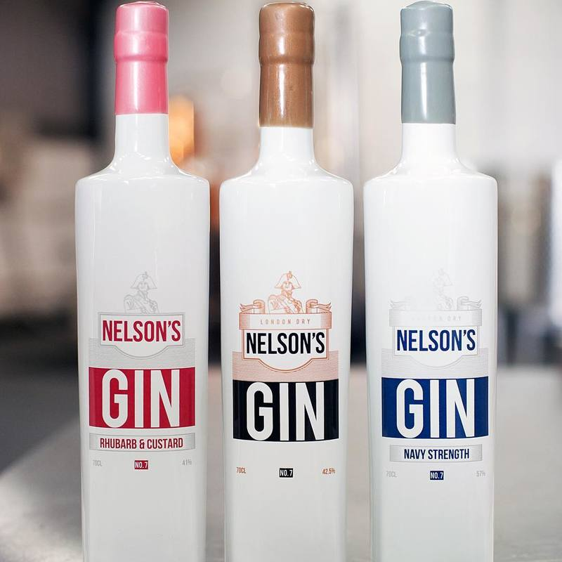 Full nelsons craftr craft spirits gin range original rhubarb custard navy strength