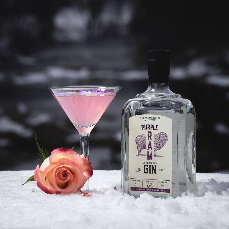 Full purple ram yorkshire dales gin cocktail