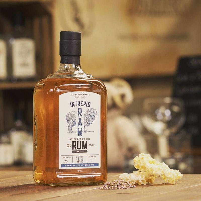 Full intrepid ram golden rum yorkshire dales distillery with botanicals