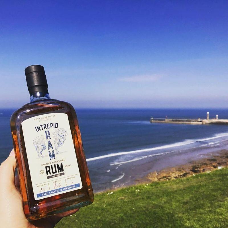 Full intrepid ram rum yorkshire dales distillery at coast