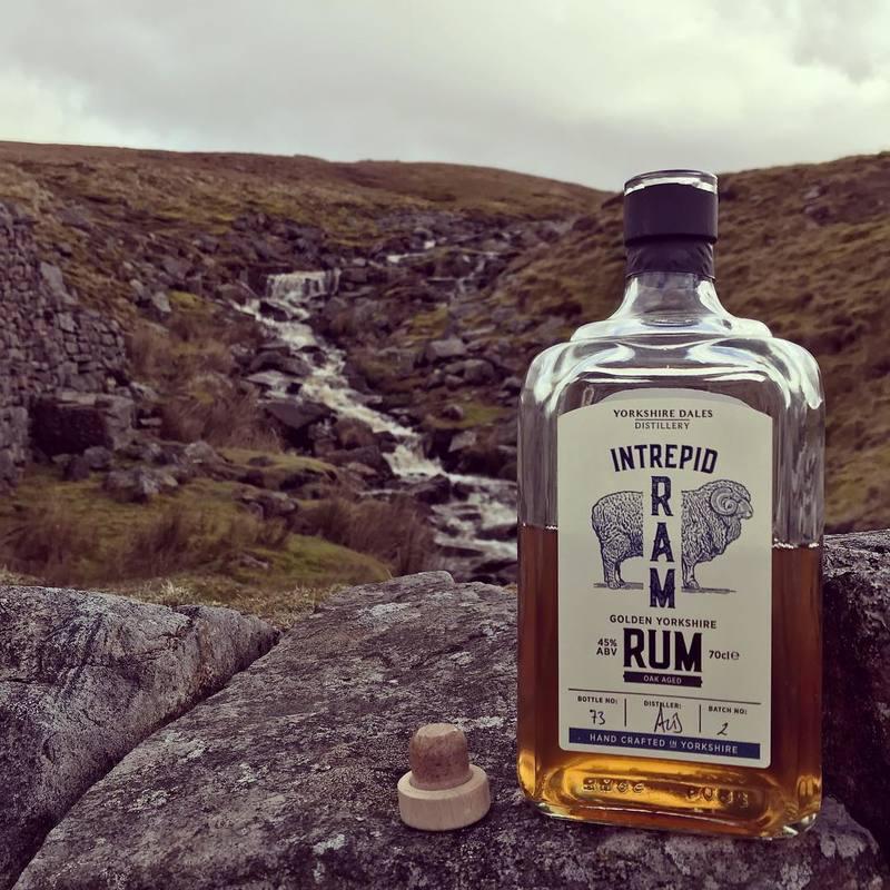 Full intrepid ram golden rum on mountain walk