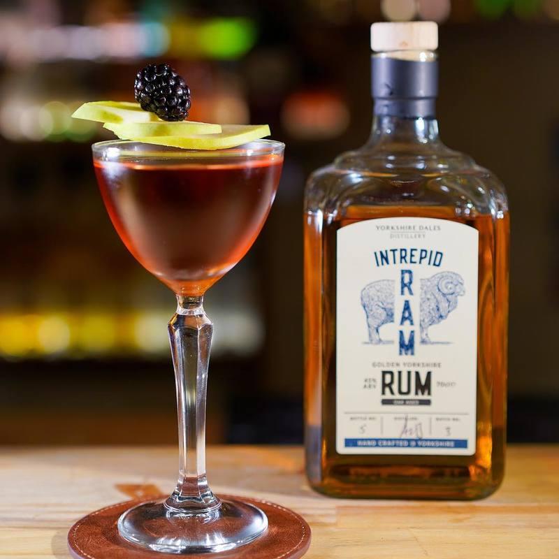 Full intrepid ram golden rum yorkshire dales distillery cocktail