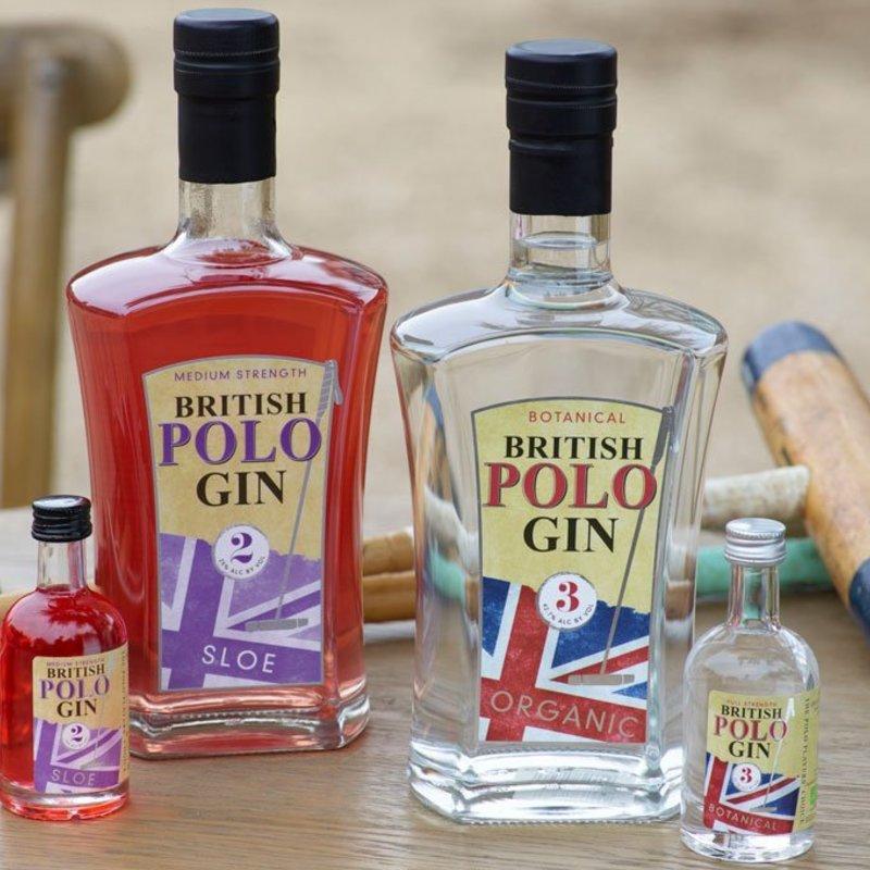Full polo gin bottles home